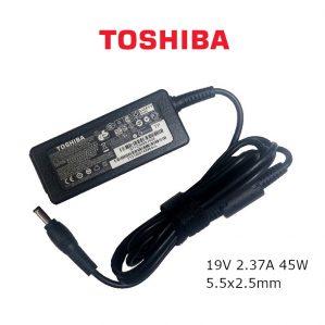 כבל הטענה ללפטופ טושיבה TOSHIBA GENIUNE CHARGER 19V 2.37A 45W 5.5x2.5mm