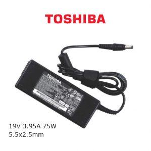 כבל הטענה ללפטופ טושיבה TOSHIBA GENIUNE CHARGER 19V 3.95A 75W 5.5x2.5mm
