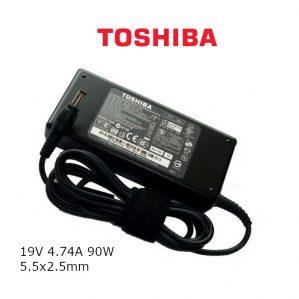 כבל הטענה ללפטופ טושיבה TOSHIBA GENIUNE CHARGER 19V 4.74A 90W 5.5x2.5mm
