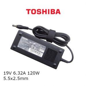 כבל הטענה ללפטופ טושיבה TOSHIBA GENIUNE CHARGER 19V 6.32A 120W 5.5x2.5mm