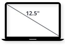 """מסך למחשב נייד 12.5"""""""