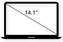 """מסך למחשב נייד 14.1"""""""