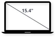 """מסך למחשב נייד 15.4"""""""