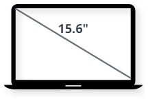 """מסך למחשב נייד 15.6"""""""