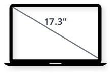 """מסך למחשב נייד 17.3"""""""