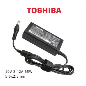 כבל הטענה ללפטופ טושיבה TOSHIBA GENIUNE CHARGER 19V 3.42A 65W 5.5x2.5mm