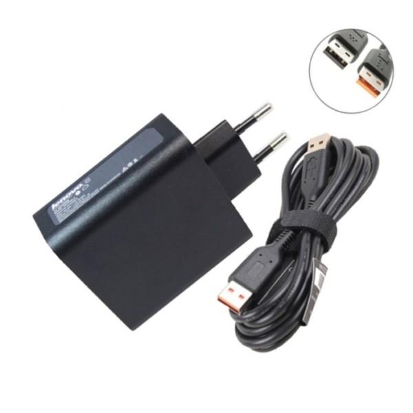 שנאי אורגינלי ללפטופ לנובו LENOVO GENIUNE CHARGER 20V 5.2V 2A 40W USB WITH EDGE ADL40WDA